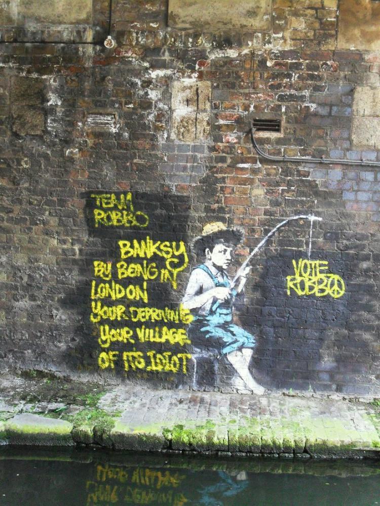 Banksy, Balıkçı, Kanvas Tablo, Banksy