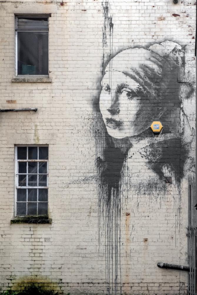 Banksy, İnci Küpeli Kız, Kanvas Tablo, Banksy
