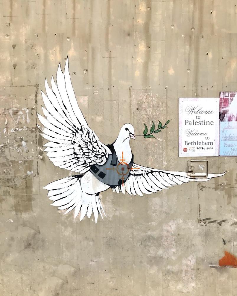 Banksy, Hedefteki Güvercin, Beytüllahim, Kanvas Tablo, Banksy