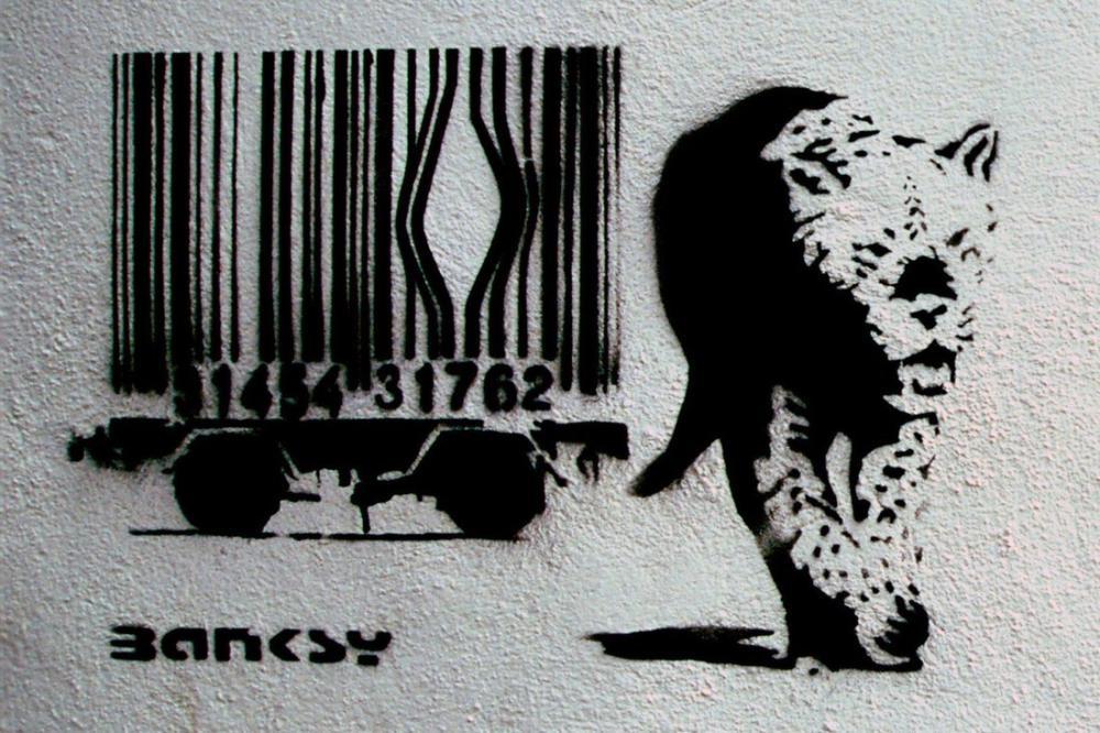 Banksy, Leopar, Kanvas Tablo, Banksy