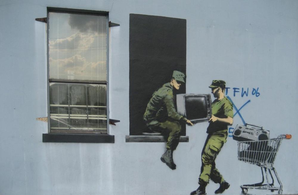 Banksy, Yağmacılar, Kanvas Tablo, Banksy