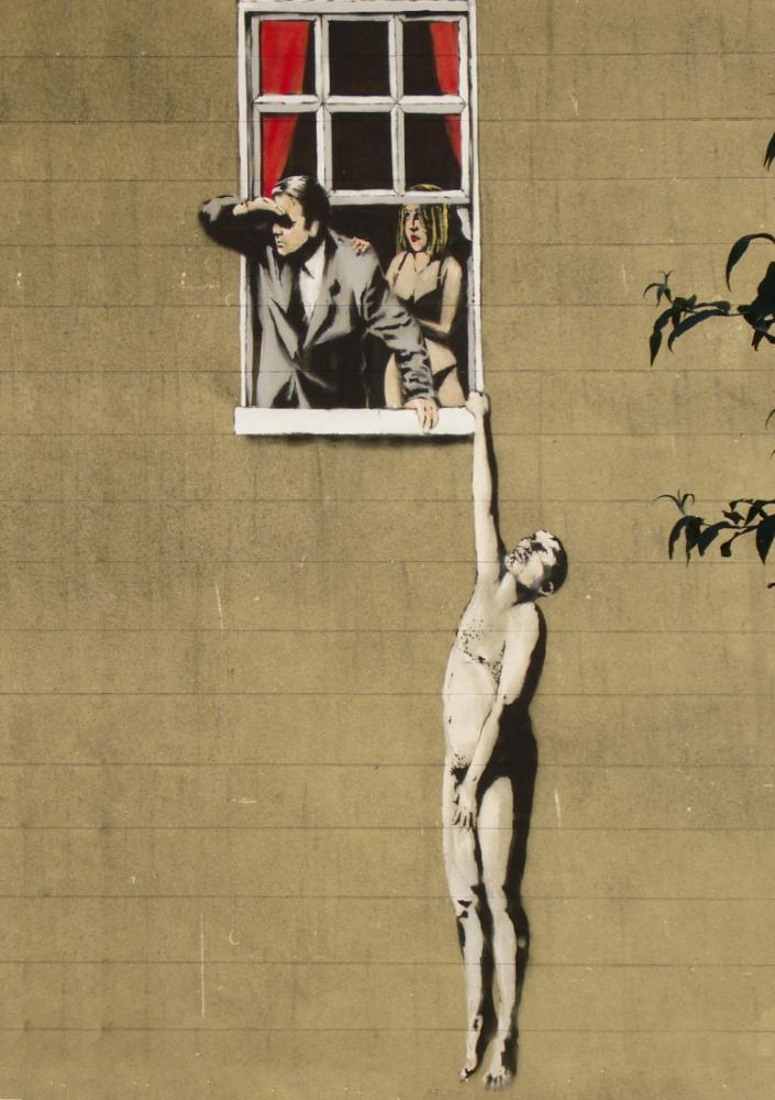 Banksy, Aşıklar, Kanvas Tablo, Banksy