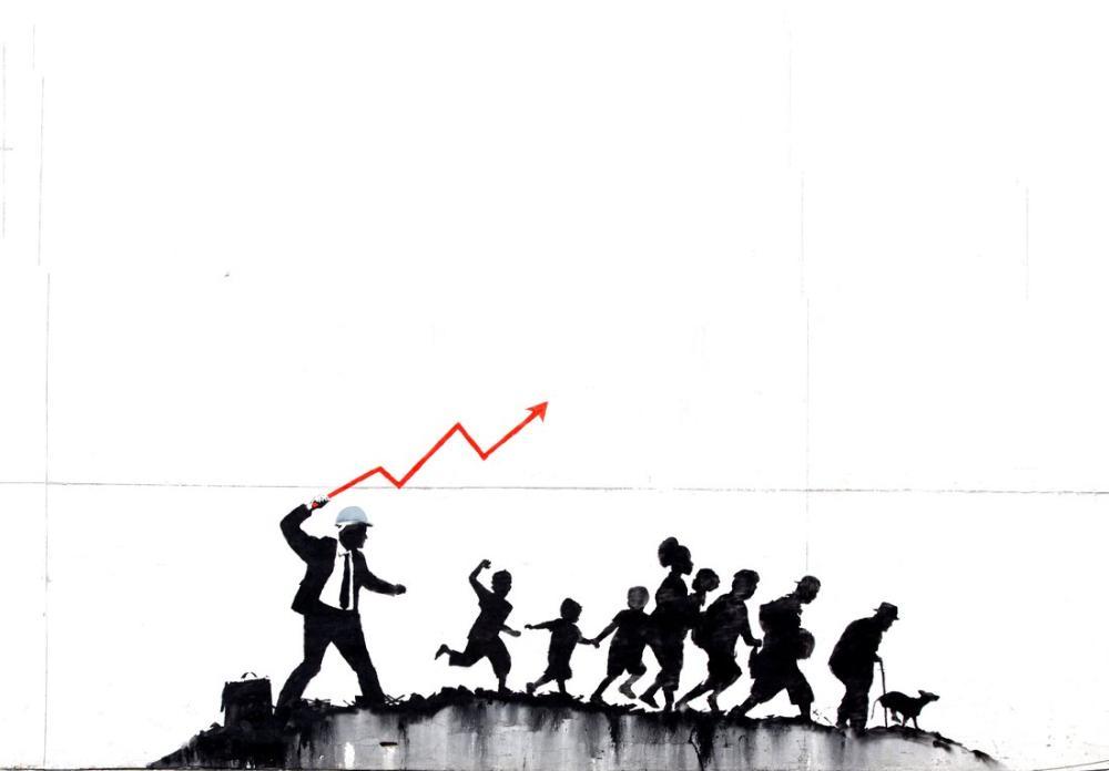 Banksy, Ekonomik Grafik Kırbaç, Kanvas Tablo, Banksy