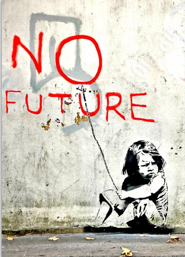 Banksy, No Future 2, Canvas, Banksy, kanvas tablo, canvas print sales