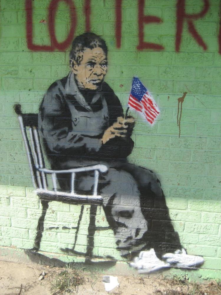 Banksy, Rocker Kapanış, Kanvas Tablo, Banksy