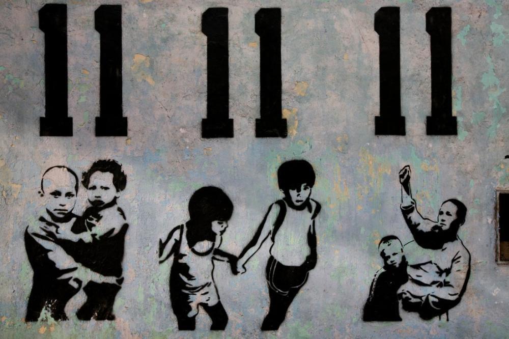 Banksy, 11 11 11, Kanvas Tablo, Banksy