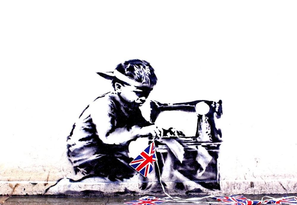 Banksy, Çocuk İşçi, Kanvas Tablo, Banksy