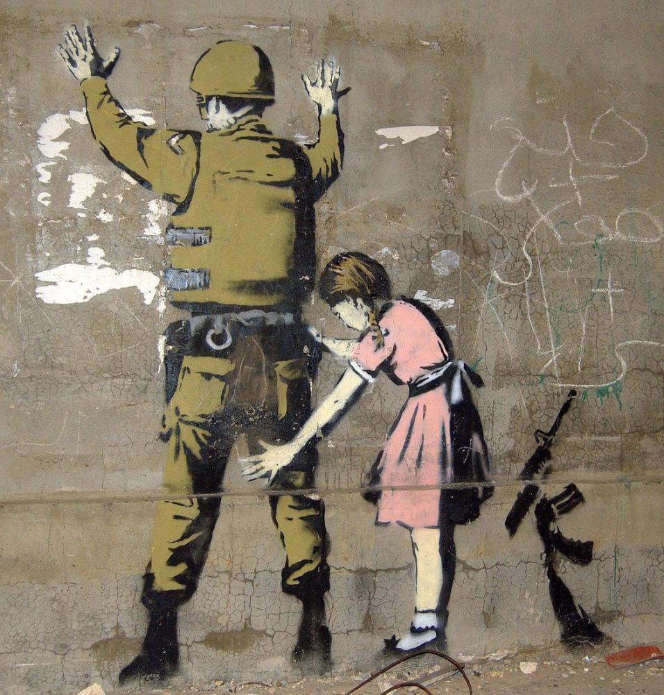 Banksy, Beytüllahim Çocuk Askeri Arıyor, Kanvas Tablo, Banksy