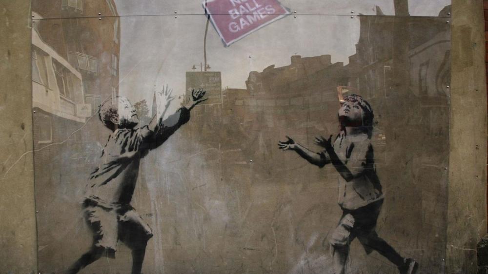 Banksy, No Ball Games, Canvas, Banksy, kanvas tablo, canvas print sales