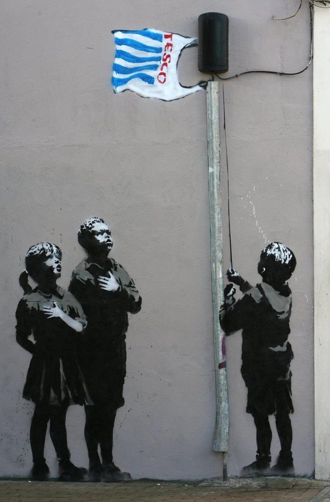 Bansky, Tesco, Kanvas Tablo, Banksy