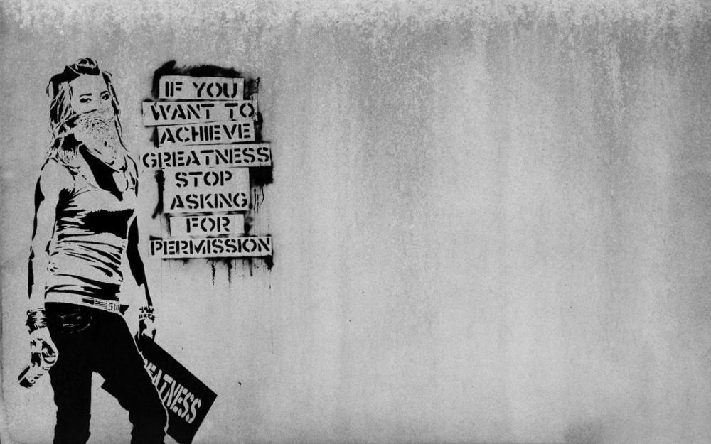 İzin İsteme, Banksy, Kanvas Tablo, Banksy