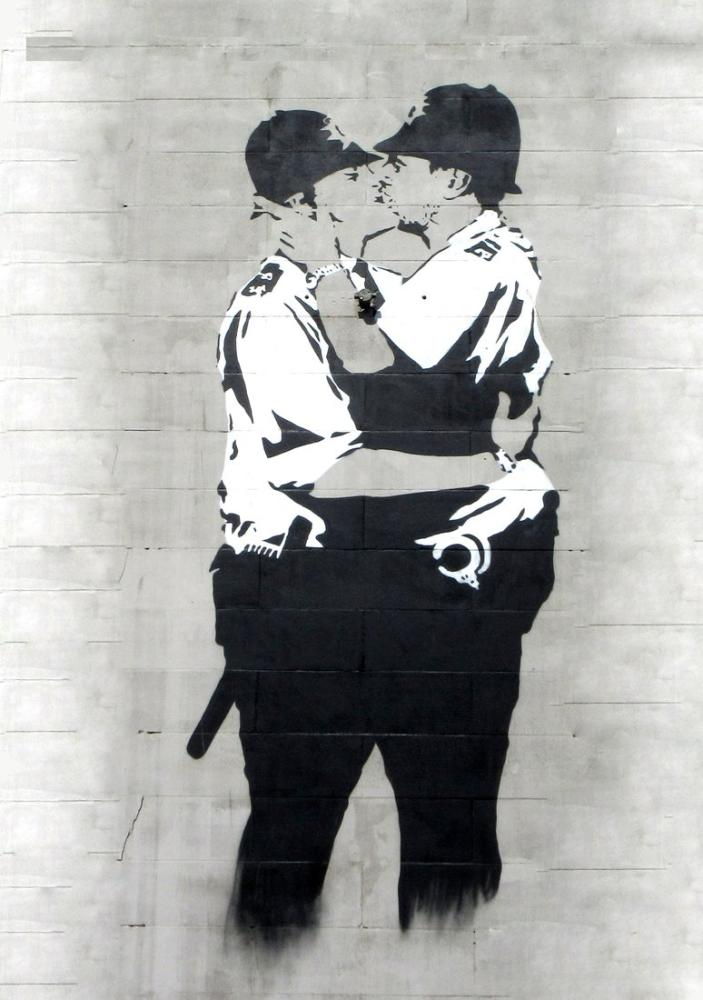Policemen are kissing 2, Banksy, Canvas, Banksy, kanvas tablo, canvas print sales