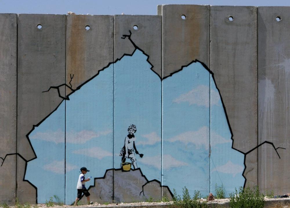 Gazze, Banksy, Kanvas Tablo, Banksy