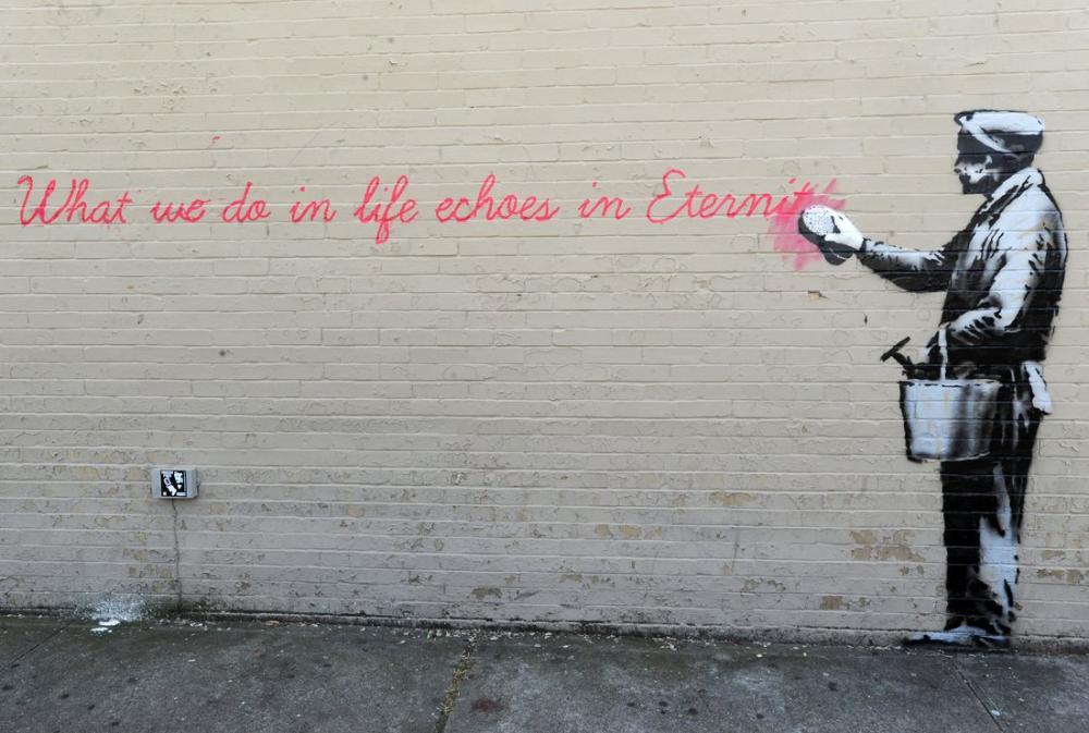 Banksy, New York City Metro, Kanvas Tablo, Banksy