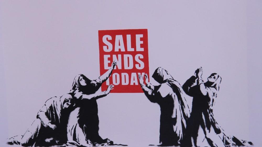 Banksy, Sale Ends Today 2, Canvas, Banksy, kanvas tablo, canvas print sales