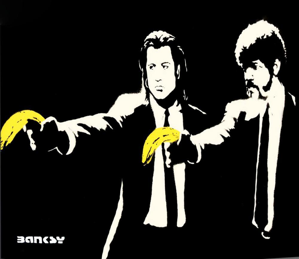Banksy, Pulp Fiction, Kanvas Tablo, Banksy