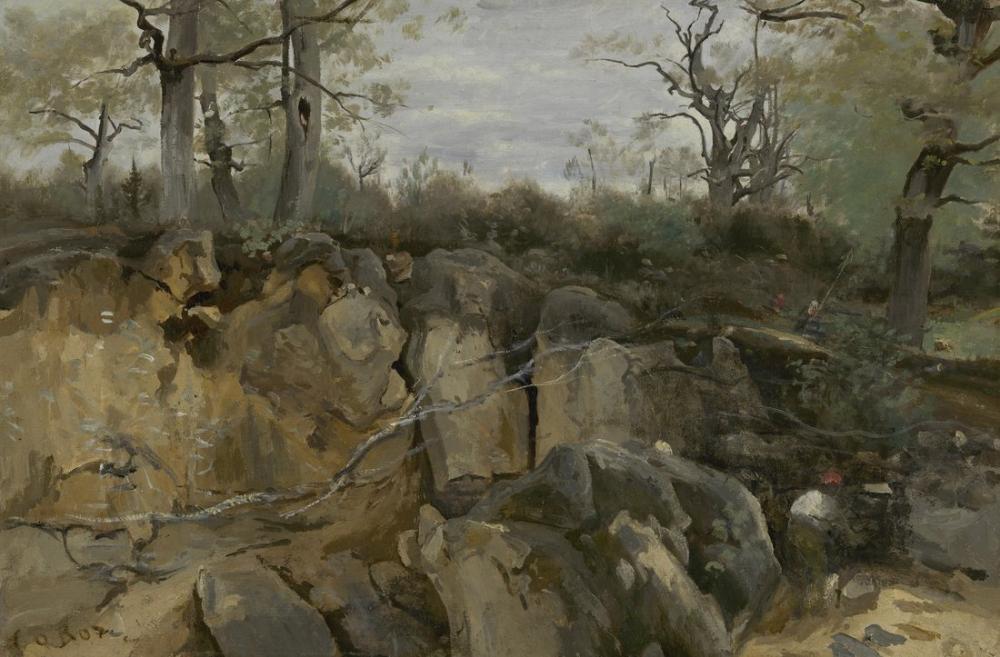 Camille Corot Terkedilmiş Taş Ocağı, Kanvas Tablo, Camille Corot