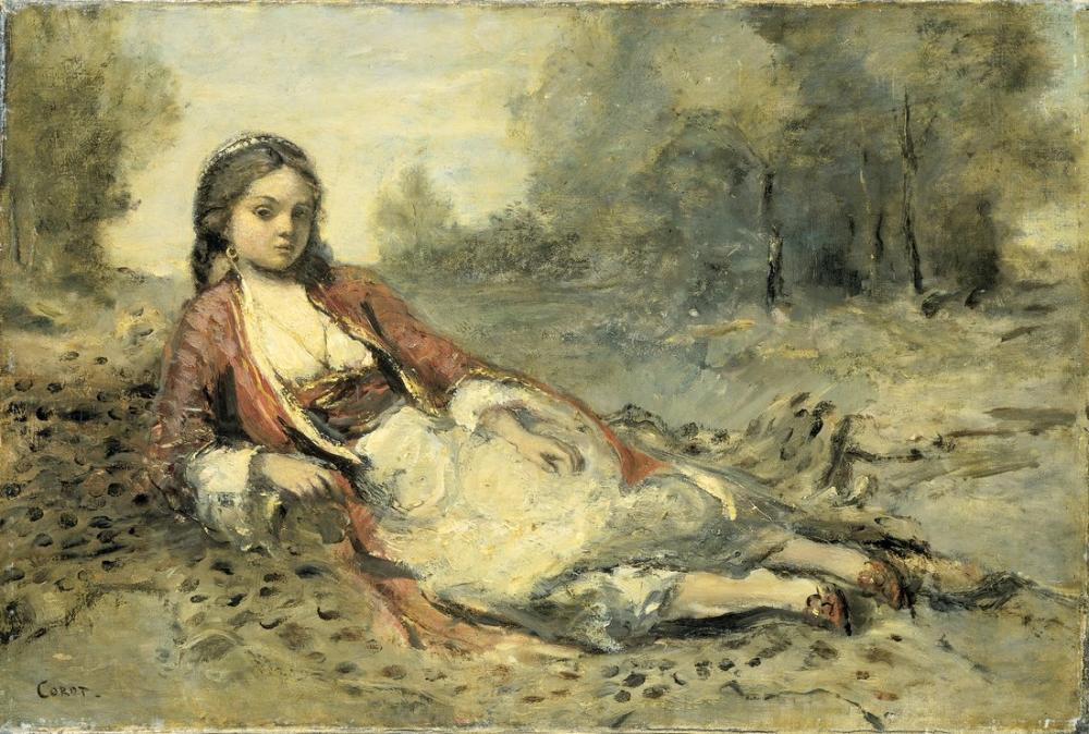 Camille Corot Algerienne, Canvas, Camille Corot, kanvas tablo, canvas print sales