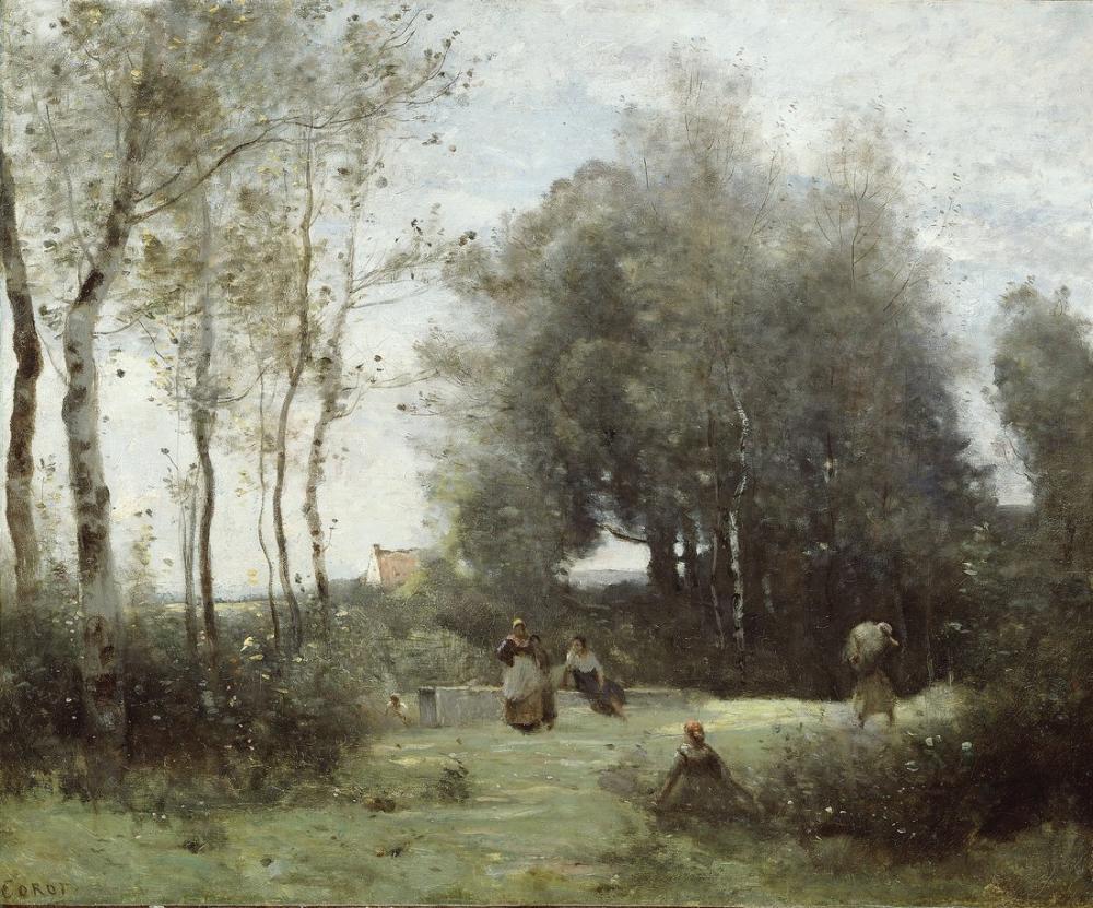 Camille Corot Arleux Palluel Trysts Köprüsü, Kanvas Tablo, Camille Corot