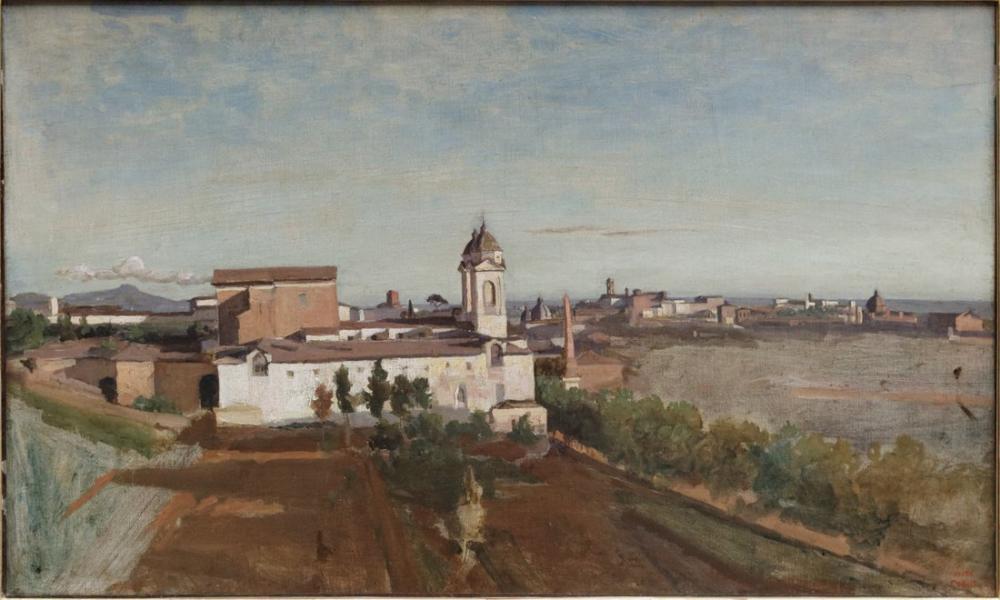 Camille Corot Dağların Üçlüsü Louvre, Kanvas Tablo, Camille Corot, kanvas tablo, canvas print sales