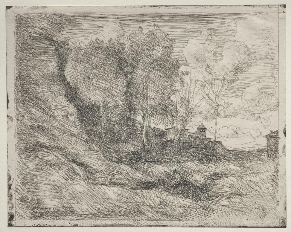 Camille Corot A Souvenir Of Ostia, Canvas, Camille Corot, kanvas tablo, canvas print sales