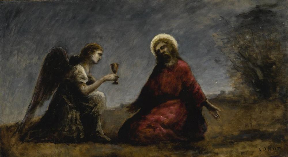 Camille Corot Le Christ Au Jardin Des Oliviers, Canvas, Camille Corot, kanvas tablo, canvas print sales