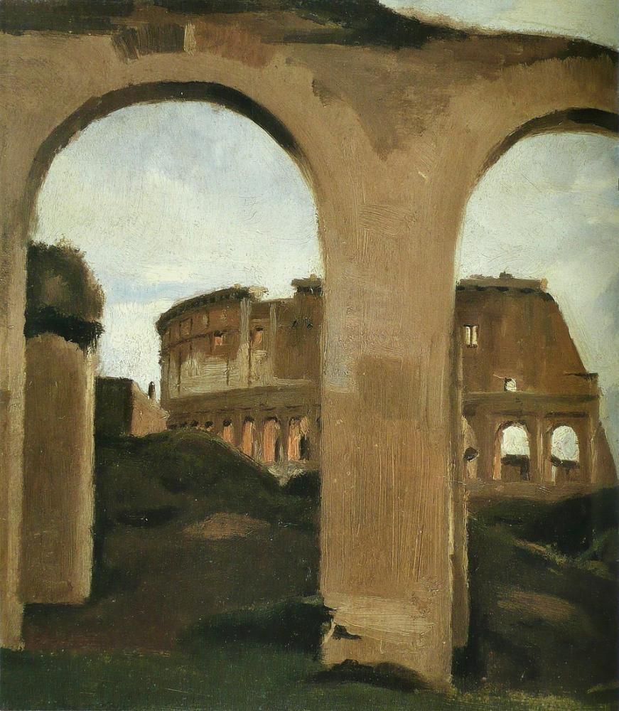 Camille Corot Kolezyum, Kanvas Tablo, Camille Corot