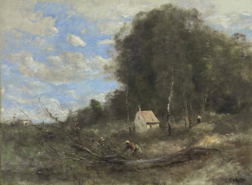Camille Corot Kasaplık Evi, Kanvas Tablo, Camille Corot
