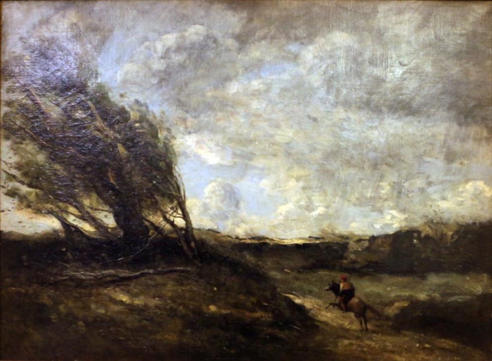 Camille Corot Le Coup De Vent, Canvas, Camille Corot, kanvas tablo, canvas print sales