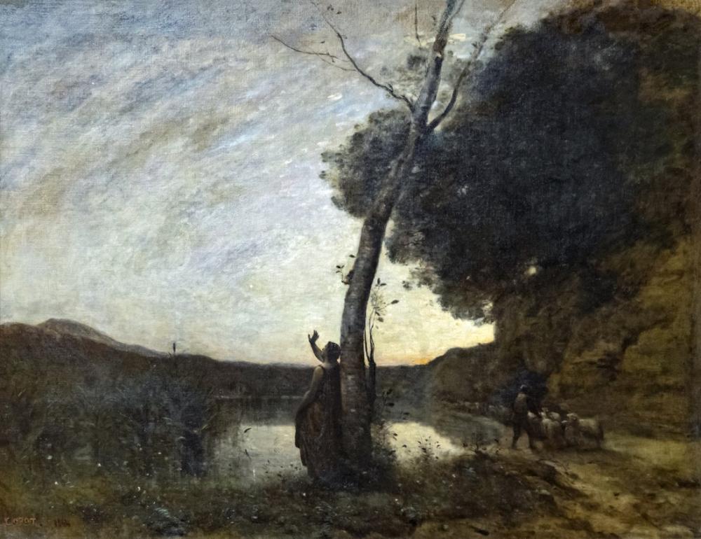 Camille Corot Augustins Çoban Yıldızı, Kanvas Tablo, Camille Corot