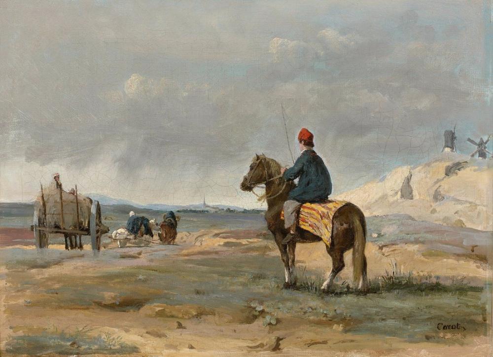 Camille Corot Pithiviers Çiftçisi, Kanvas Tablo, Camille Corot