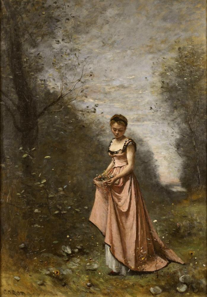 Camille Corot Hayatın Baharı, Kanvas Tablo, Camille Corot