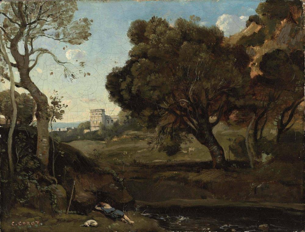Camille Corot Çoban Dinlenme, Kanvas Tablo, Camille Corot