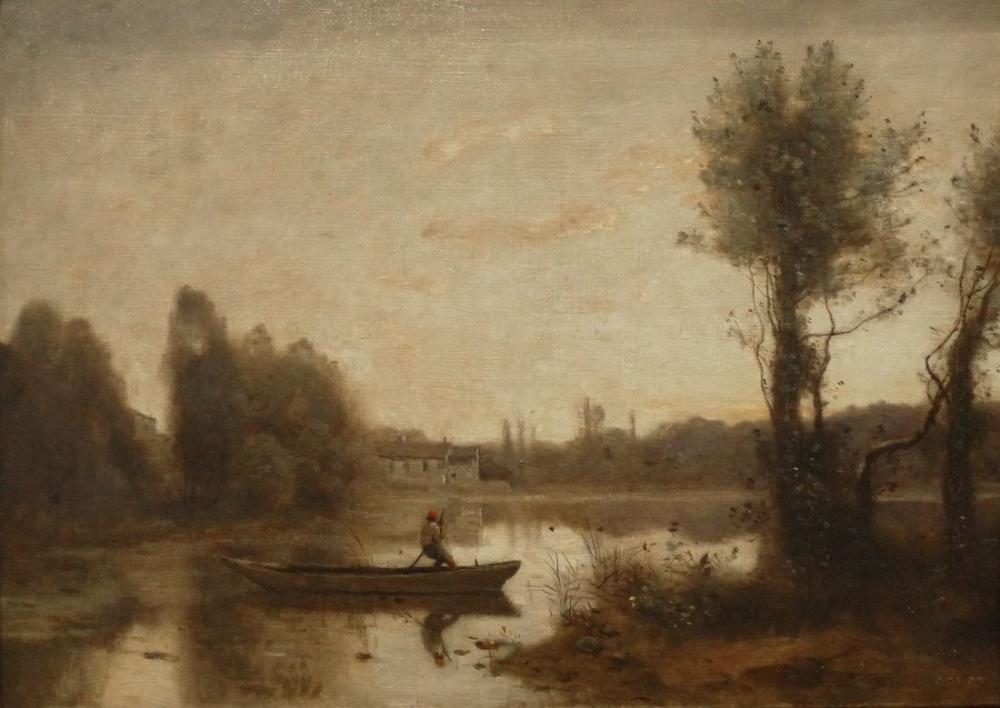 Camille Corot Ville Davray Göleti, Kanvas Tablo, Camille Corot