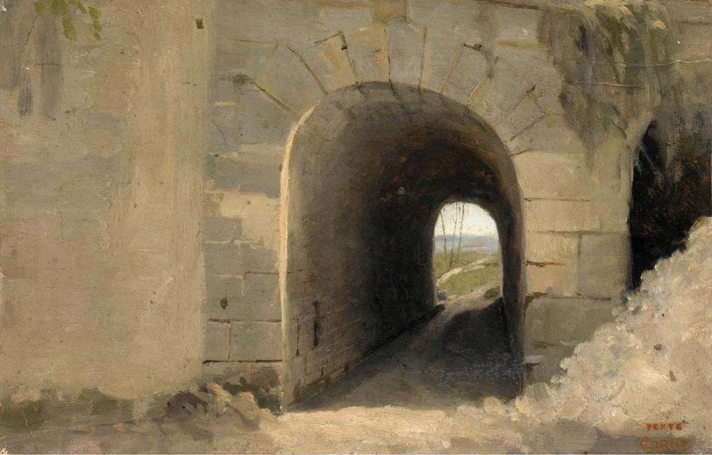Camille Corot Auteuil Bir Tonozlu Geçit, Kanvas Tablo, Camille Corot, kanvas tablo, canvas print sales