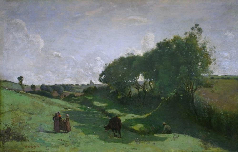 Camille Corot Le Vallon, Kanvas Tablo, Camille Corot