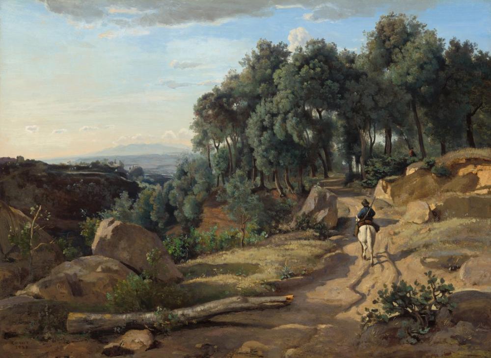 Camille Corot A View Near Volterra, Canvas, Camille Corot, kanvas tablo, canvas print sales