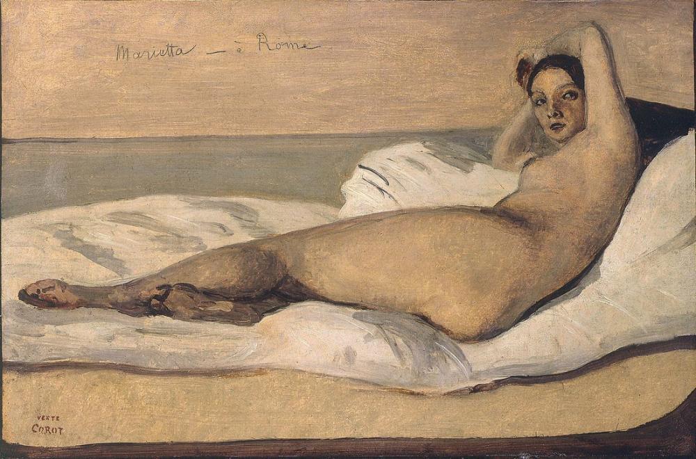 Camille Corot Marietta, Kanvas Tablo, Camille Corot