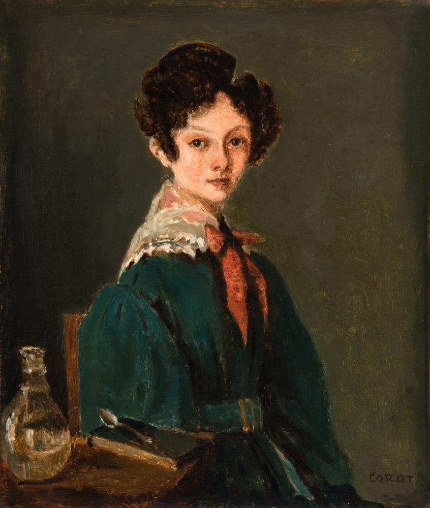Camille Corot Misty Sabah, Kanvas Tablo, Camille Corot, kanvas tablo, canvas print sales
