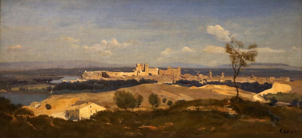 Camille Corot Batıdan Avignon, Kanvas Tablo, Camille Corot