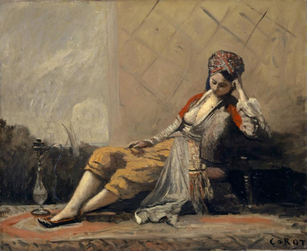 Camille Corot  Cariye, Kanvas Tablo, Camille Corot