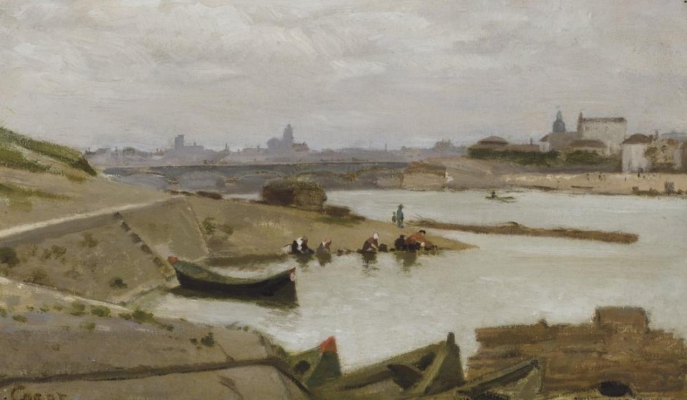 Camille Corot Paris Bölge Görünümü, Kanvas Tablo, Camille Corot