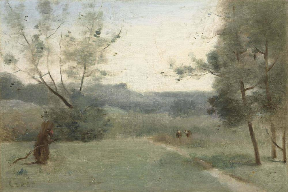Camille Corot Ahşap Toplayıcı, Kanvas Tablo, Camille Corot