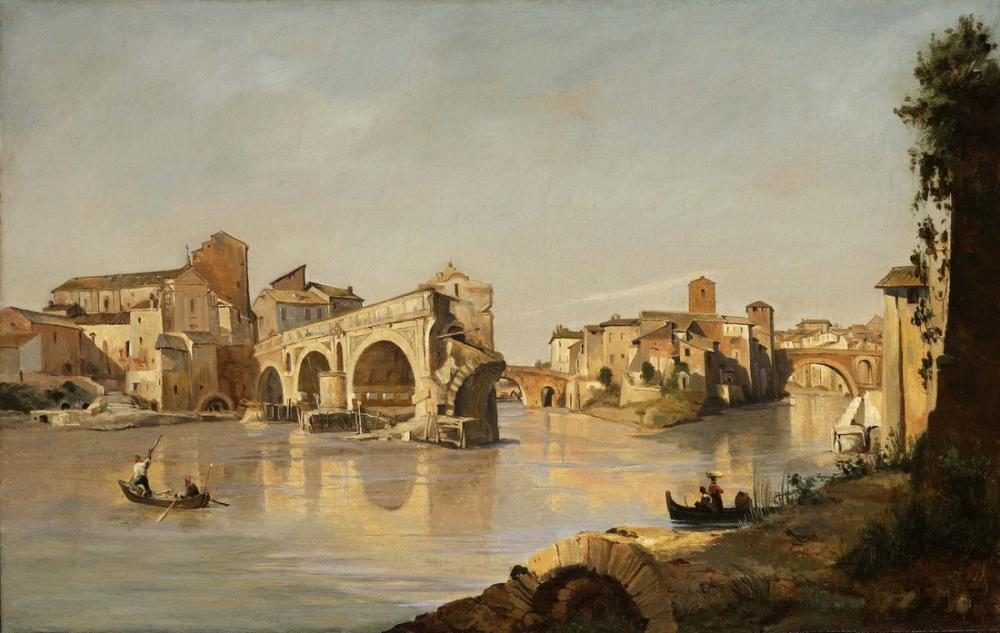 Camille Corot Rome, Canvas, Camille Corot, kanvas tablo, canvas print sales