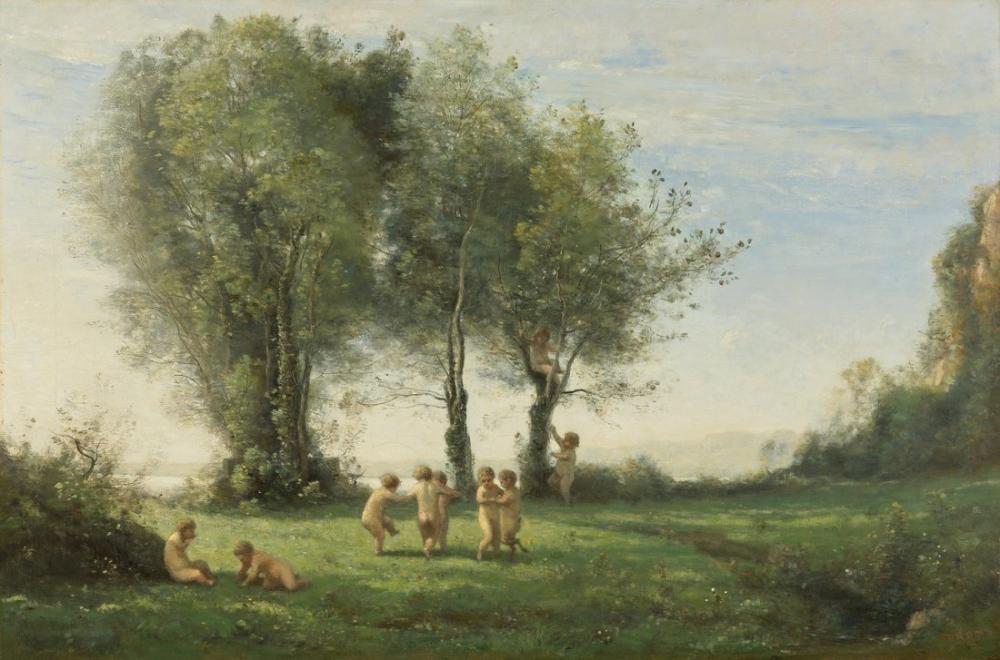 Camille Corot Yuvarlak Damours Gündoğumu, Kanvas Tablo, Camille Corot
