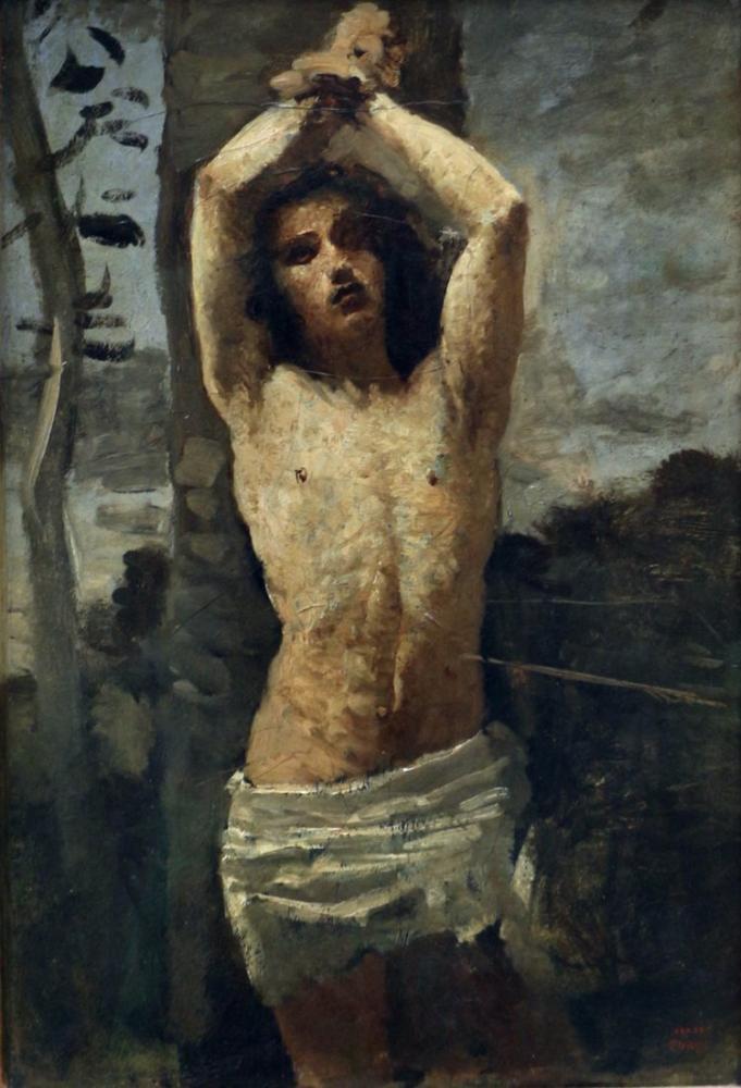 Camille Corot San Sebastiano, Kanvas Tablo, Camille Corot