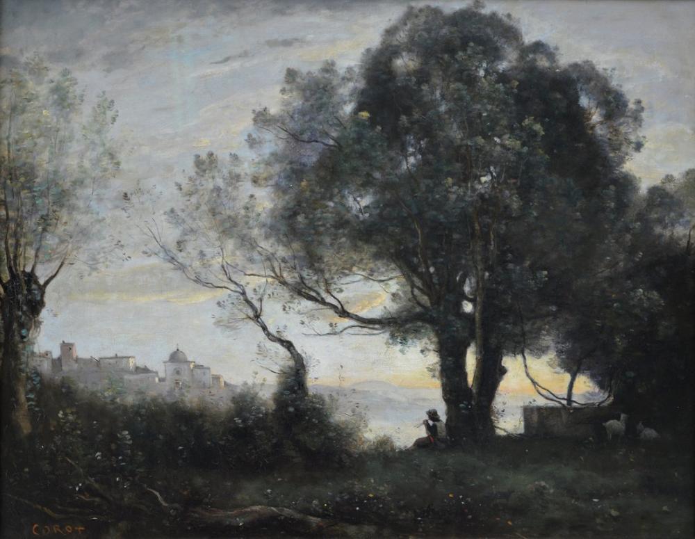 Camille Corot Castelgandolfo Hatırası, Kanvas Tablo, Camille Corot