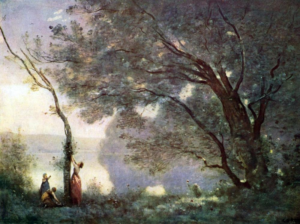 Camille Corot Mortefontaine Hatırası, Kanvas Tablo, Camille Corot
