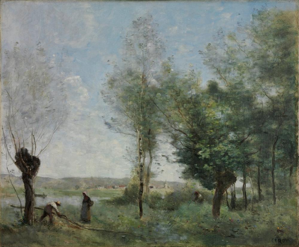 Camille Corot Coubron Hatırası, Kanvas Tablo, Camille Corot