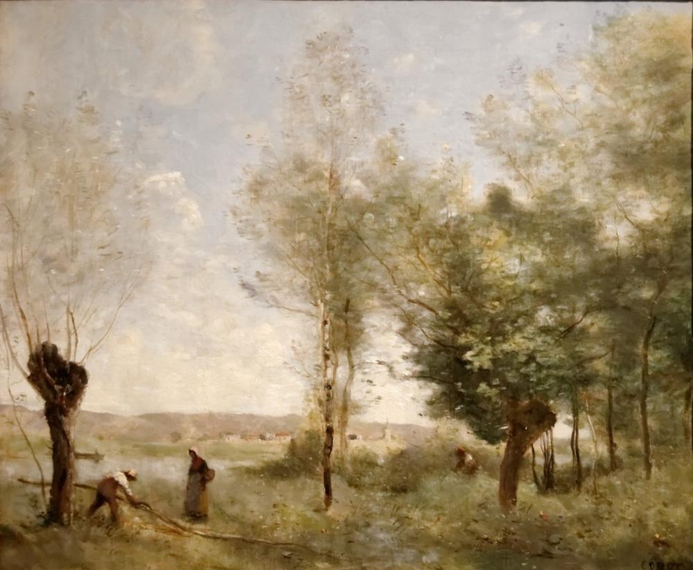 Camille Corot Coubron Hatıra Eşyası, Kanvas Tablo, Camille Corot